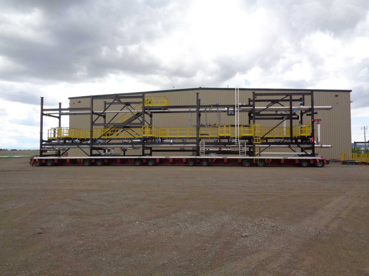Oil and Gas structure on ginormous trailer