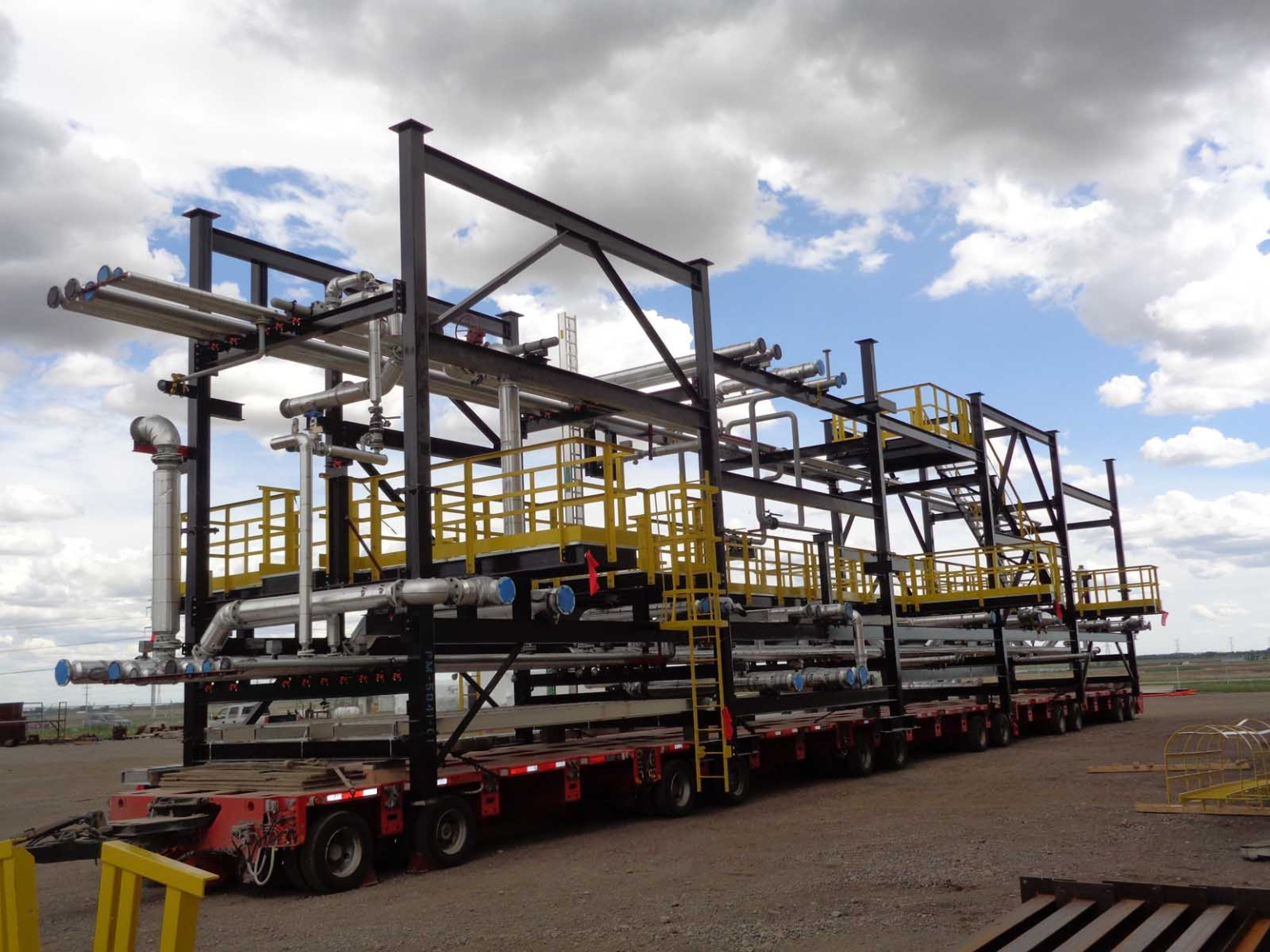 Oil and Gas structure on gigantic trailer
