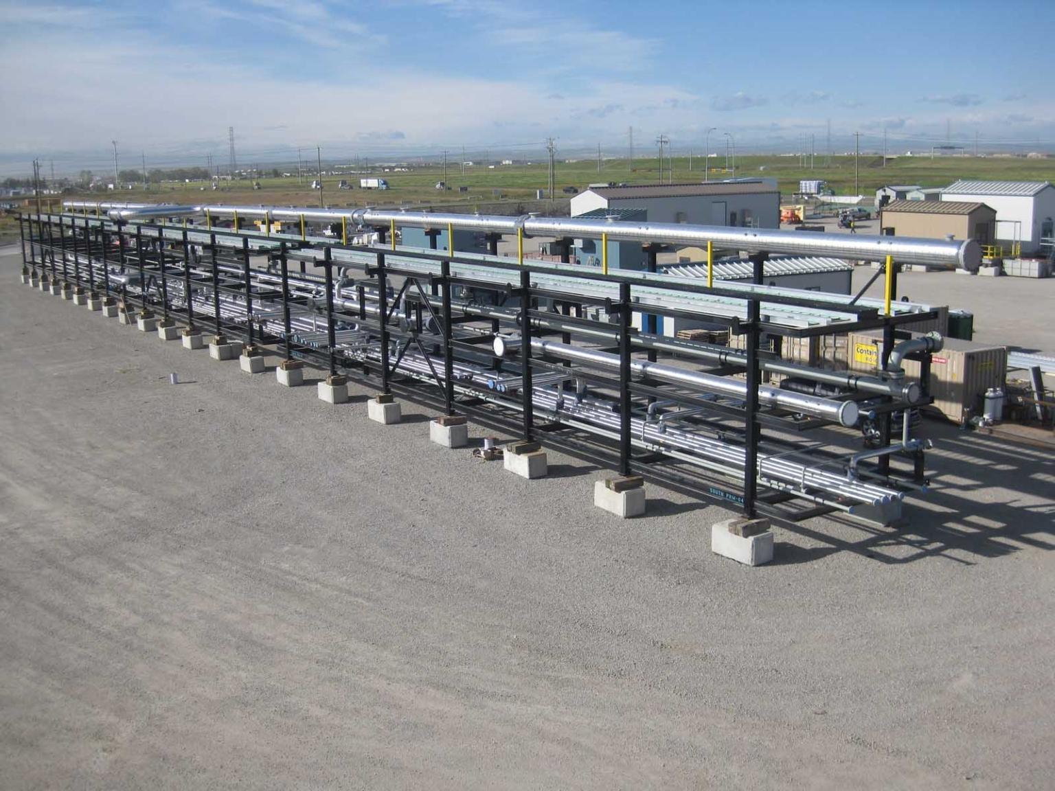 factory pipes storage shelf